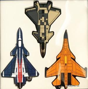 现货航空知识军机系列橡胶双面挂饰礼盒