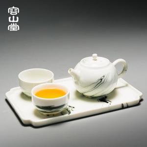 容山堂陶瓷水墨茶具套装一壶两杯