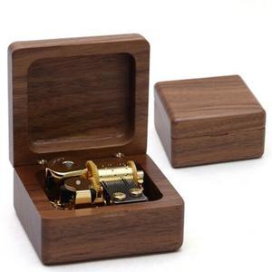 木质8音盒天空之城胡桃木款