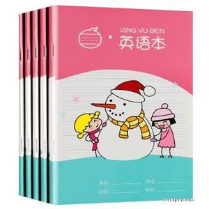預售 米小圈文具 小學生英語本5本