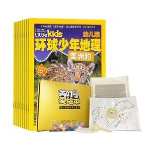 环球少年地理幼儿版(1年共12期)+绘本拓展七色马拓印画儿童手工DIY材料包(3-6岁)